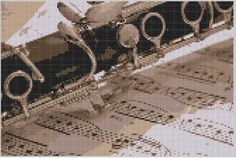 Clarinet Cross Stitch Pattern