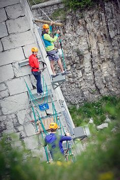 bastille via ferrata in grenoble france