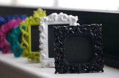 Mini Chalkboard  Black Square Frame by eschreur on Etsy, $3.25