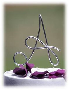 Custom Wire Initial Wedding Cake Topper / Monogram / 5 in high / for Wedding, Anniversary, Birthday Party / Any Letter Available /. $15.00, via Etsy.