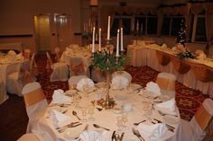 Candelabra Cente Pieces are available for you to use as part of your package.