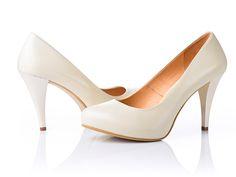 Туфли на свадьбу бежевые 9,5см