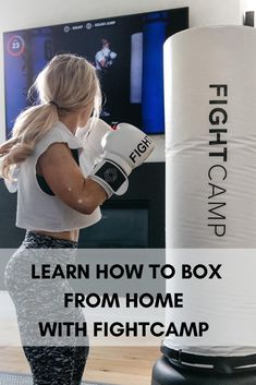 Learn how to start boxing from the comfort of your own home. Boxing Girl, Women Boxing, Fitness Workout For Women, Fitness Goals, Boxing Workout With Bag, Boxing Routine, Tennis Bags, Boxing Training, Weight Loss Help