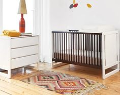 Kids, Elegant And Modern Oeuf Classic Crib That Look So Amazing And Comfortable For Baby Room With White Dresser And Lampshade With Cute Accessories And Small Rug On The Floor ~ Furnish Your Baby Room With Using The Oeuf Classic Crib