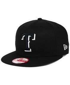 New Era Texas Rangers Black White 9FIFTY Snapback Cap Men - Sports Fan Shop  By Lids - Macy s bf6c7d2b84