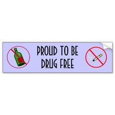 Drug Free Bumper Sticker