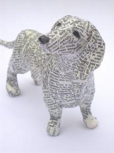 chien en papier mâché