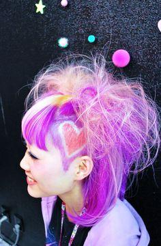 Cute hair - Japanese Harajuku (Street fashion).