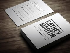 Clean Individual Business Card by bouncy on Creative Market