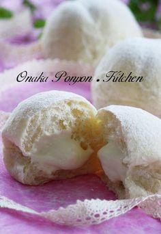 メープル風味の優しい甘さのミルククリーム♪ 生クリームも入れたのでとろふる♡な感じです♫ パンにも♪