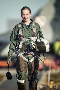 Female Fighter Pilot Russia