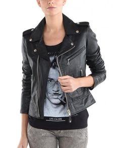 HOT Women's Genuine Lambskin Leather Motorcycle Slim fit sexy Biker Jacket WN46 #WesternOutfit #Motorcycle #EveryDay