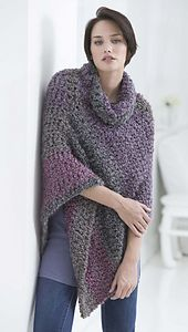 Ravelry: Cozy Cocoon Poncho / Cozy Cowl Poncho pattern by Lion Brand Yarn