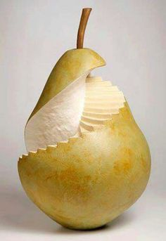 Pear staircase! Food art at it's best!