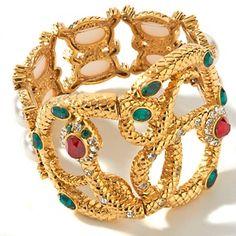 """R.J. Graziano """"Wild One"""" Snake-Design 6-1/4"""" Stretch Bracelet"""