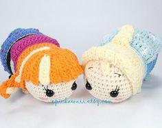 Tsum Tsum Amigurumi Pattern Free : Pattern cinderella tsum tsum crochet amigurumi doll amigurumi