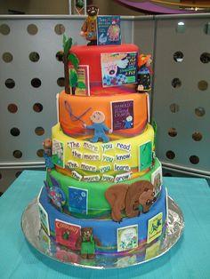 Children book cake theme