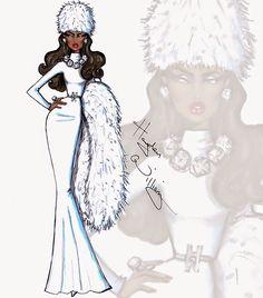 Hayden Williams Fashion Illustrations: 'Winter Frost' by Hayden Williams