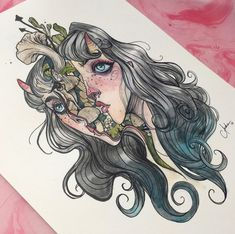Surrealism art inspiration and artwork by Audra Auclair Love Drawings, Art Drawings Sketches, Cartoon Drawings, Audra Auclair, Psychedelic Drawings, Art Through The Ages, Grunge Art, Surrealism Painting, Witch Art