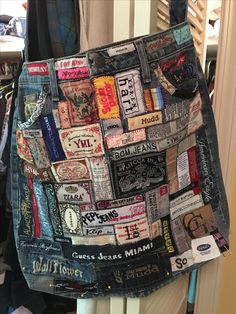 Recycle Old Clothes, Recycle Jeans, Diy Clothes, Diy Bags Purses, Tote Bags Handmade, Denim Ideas, Denim Crafts, Boho Bags, Recycled Fashion
