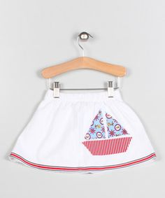 Another great find on #zulily! White Sailboat Appliqué Skirt by Puffy Pie #zulilyfinds