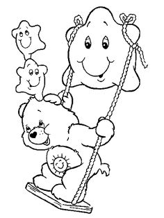 Care Bear Coloring Pages 4 Bear Coloring Pages, Coloring Sheets For Kids, Disney Coloring Pages, Printable Coloring Pages, Coloring Pages For Kids, Coloring Books, Kids Coloring, Tattoo Painting, Paw Patrol Coloring
