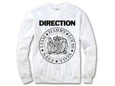 One Direction Ramones Sweatshirt  1D Ramones by ExtraTexApparel, $32.00