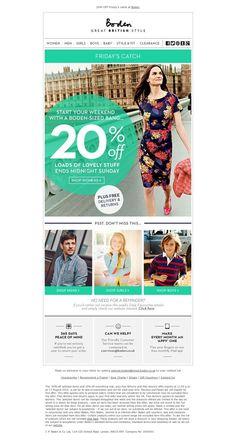 Beautiful email design - aqua and white colour scheme - newsletter design