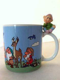 Walt Disney Snow White 7 Dwarfs - Dopey Coffee Mug Cup Made in Japan