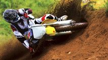 Wallpapers Motocross Free Style Dirt Bike Suzuki Race Wide