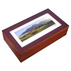 Stonehouse Mahogany Cigar Humidor -- Famous Golf Courses - ROYCD9H