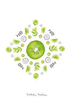 Illustrated-poster-kitchen-art-kiwi-lime