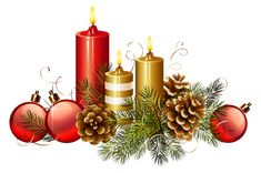 Christmas Candles PNG Clipart Image