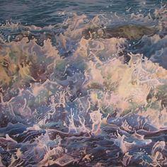 Mandy Lake, Twilight, oil on canvas, 2015 Lake Painting, Twilight, Oil On Canvas, Acrylics, Gallery, Nature, Paintings, Image, Art