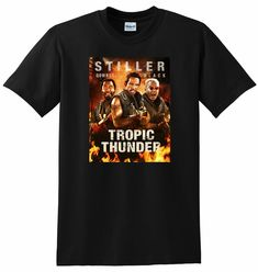 NEW TROPIC THUNDER T SHIRT bluray dvd poster tee SMALL MEDIUM LARGE or XL  - Thunder - Ideas of Thunder gift #Thundergift Thunder And Lightning, Dvd Blu Ray, Tropical, Medium, Tees, Gift, Mens Tops, T Shirt, Poster