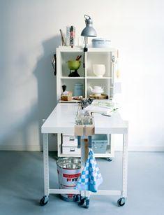 #DIY #kitchen workplace #storage  www.101woonideeen.nl