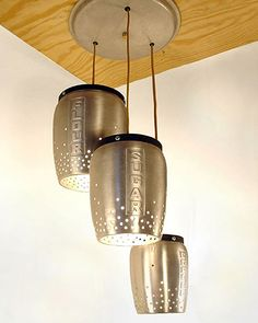 DIY, upcyled, industrial, kitchen, lighting,  silver