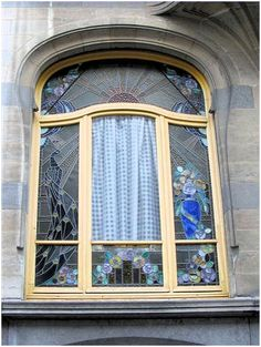 A beautiful stained glass window in Brussels