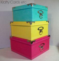 Craft Room Update ~ Storage Boxes