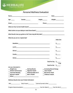 Herbalife-Wellness-Evaluation. Ask yourself these questions then contact me at kiddstaci@yahoo.com / www.goherbalife.com/staciannkidd