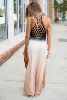 Caged back maxi dress #swoonboutique
