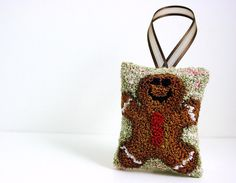 Gingerbread Man Cookie Christmas Ornament by HarpandThistle, $31.00