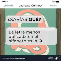 ¿Usas la letra 'Q' a menudo? #SabíasQué #DatoInteresante #Laureate