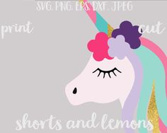 Unicorn svg unicorn monogram svg Birthday svg by ShortsandLemons