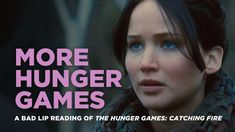I laughed so hard I cried-- A Bad Lip Reading Parody of 'The Hunger Games: Catching Fire' Complete With Katniss and Peeta Singing 'Choo Choo Go' Hunger Games Humor, Hunger Games Catching Fire, Hunger Games Trilogy, Jennifer Lawrence Hunger Games, Parody Videos, Funny Videos, Katniss And Peeta, Fandoms, Top Videos