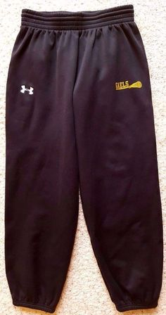 UNDER Armour SWEATPANTS Medium ADULT Fleece PANT Black SIZE Sz MENS Man LACROSSE #UnderArmour #Pants