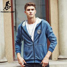 brand clothing Fashion Casual Men Hooded Jacket Mens autumn Coat