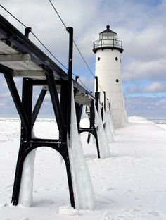 Manistee, Michigan - North Pierhead Lighthouse-you will see this lighthouse if you venture down Manistee River into Lake Michigan for a little salmon fishing.