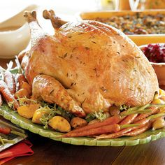 There's a lot going on in the kitchen on Thanksgiving, so when it comes to cooking the turkey, take a low-maintenance approach. The technique here is fairly hands-off. The instructions are for a 14-pound turkey, which serves 12 to 14 people, but they can be used for larger or smaller birds; just adjust the roasting time accordingly.