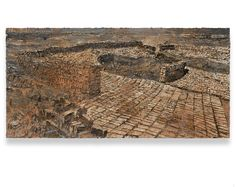 ANSELM KIEFER The Fertile Crescent, 2009 Acrylic, oil, shellac and sand on canvas 280x570x8 cm